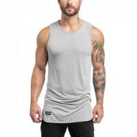 Extended Scoop Tank - Light Grey